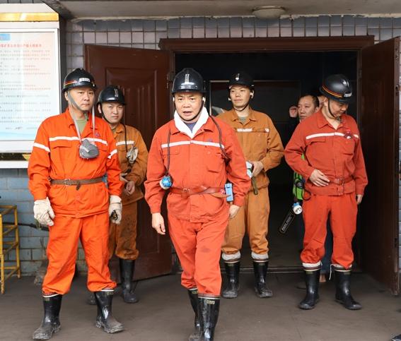 朱世贵到龙门峡南矿检查指导工作